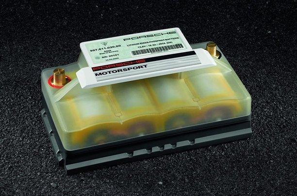 Porsche lithium ion starter battery