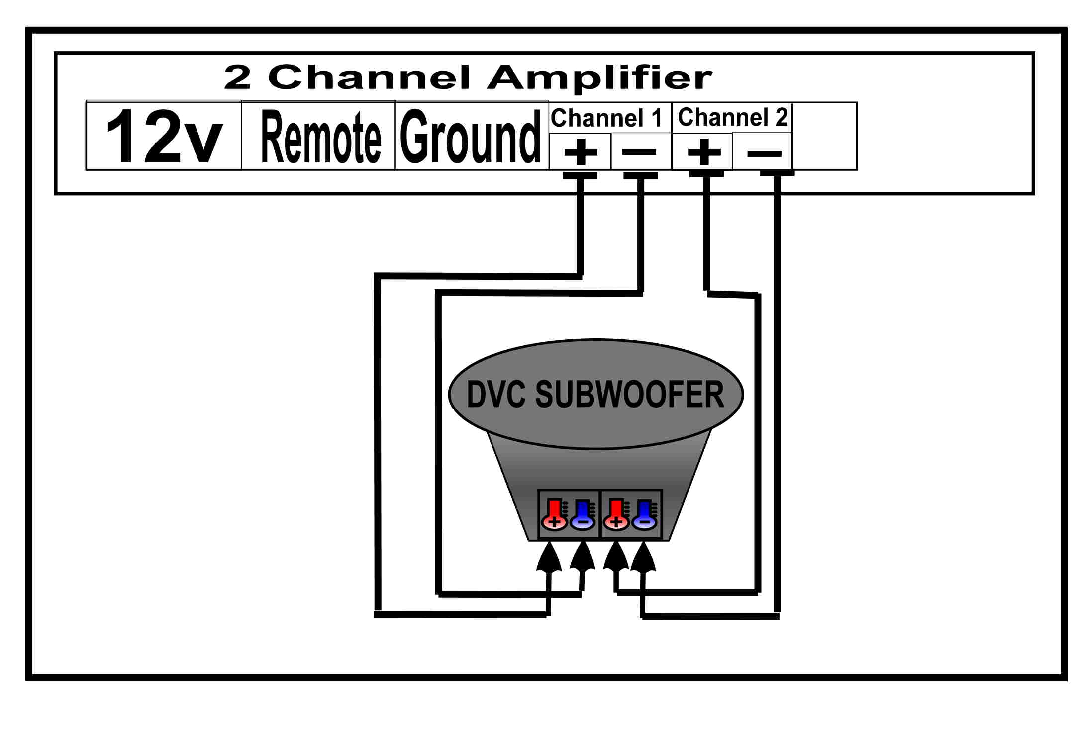 DVC to 2 Channel Amplifier help with wiring my audiobahn aw 1200 q and spl 460 phantom amplifier audiobahn aw1200q wiring diagram at alyssarenee.co