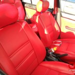 red vw interior