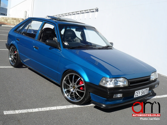Blue Crush Ford Laser Automodified